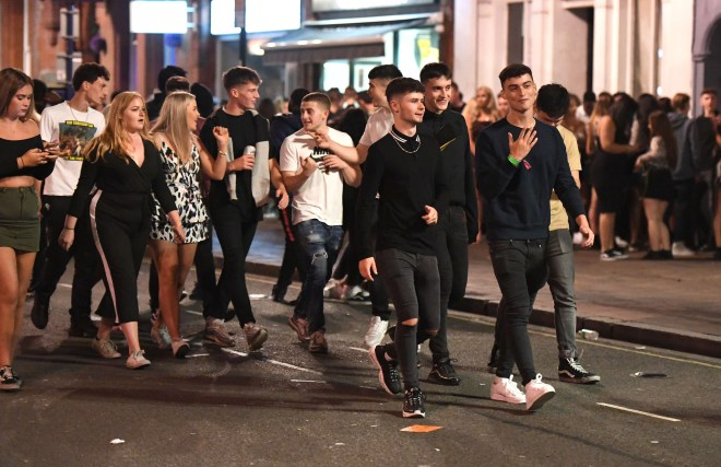 Lads go out for the biggest event during Portsmouth University Freshers' Week