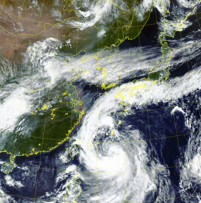Typhoon Tapah is heading towards Japan