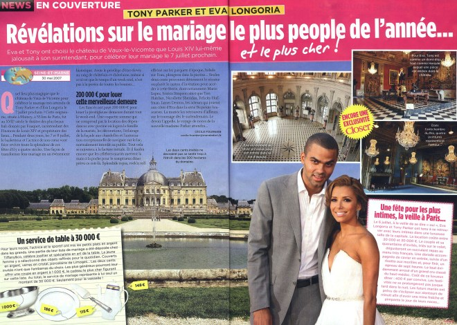 Eva Longoria married NBA basketball star Tony Parker at the historic site