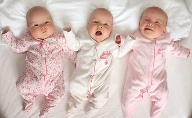 Identical triplet girls Genevieve, Constance and Avangeline were born at 200million to one odds