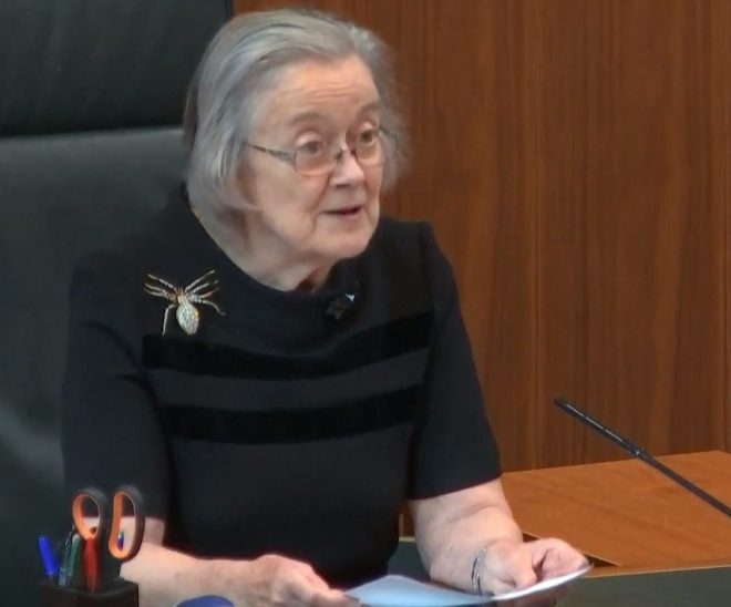 Lady Hale read out the ruling at the Supreme Court