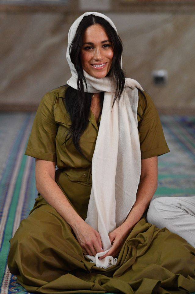 Meghan wore a headscarf for the first time in public during a visit to a mosque