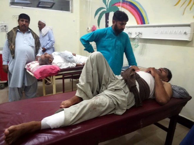 Dozens have been taken to hospitals for treatment to their injuires