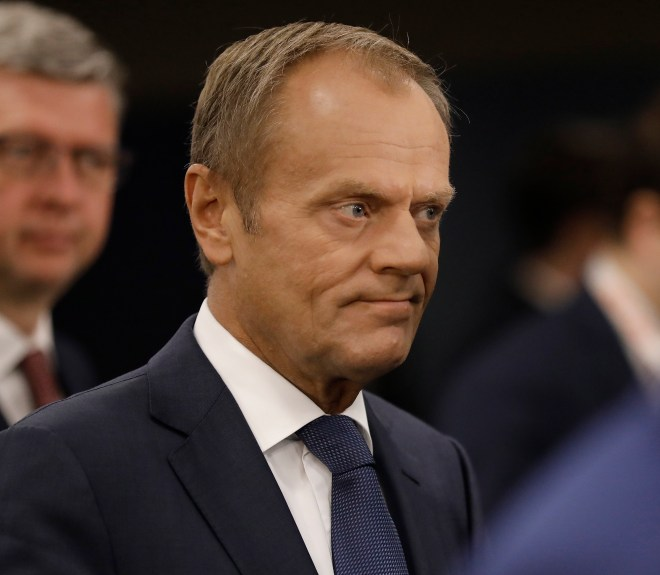 Donald Tusk warned the PM that it was vital he win round Mr Varadkar to his alternative backstop plan