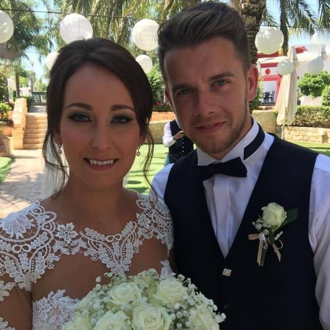 Married Kirsty Maxwell, 27, pictured with her husband Adam