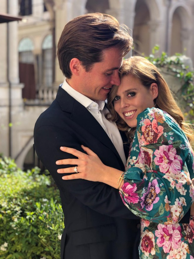 Princess Beatrice glows as she announces her engagement