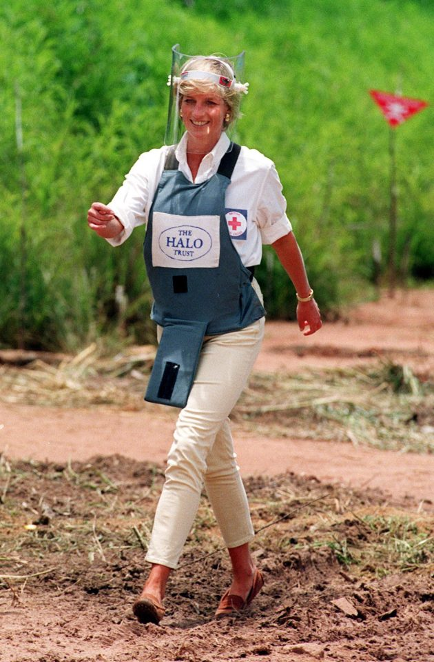 Princess Diana made headlines when she visited the minefield in 1997