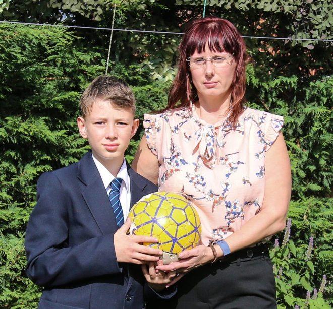 Amanda with 11-year-old son Teihlen