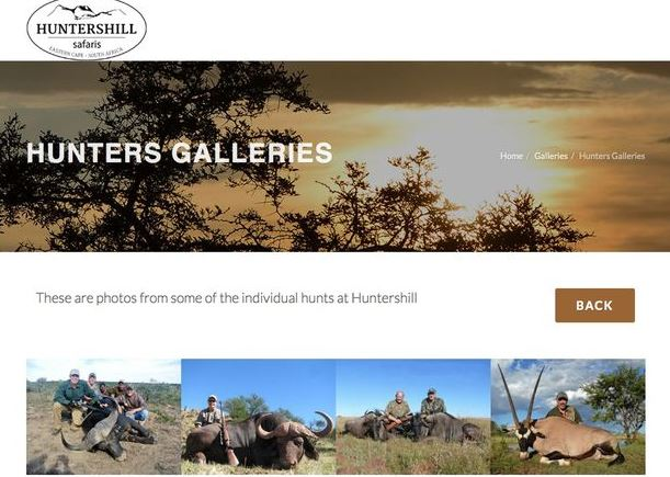 HuntersHill safaris is one of the many tourist companies in South Africa that will take hunters out to shoot an animal