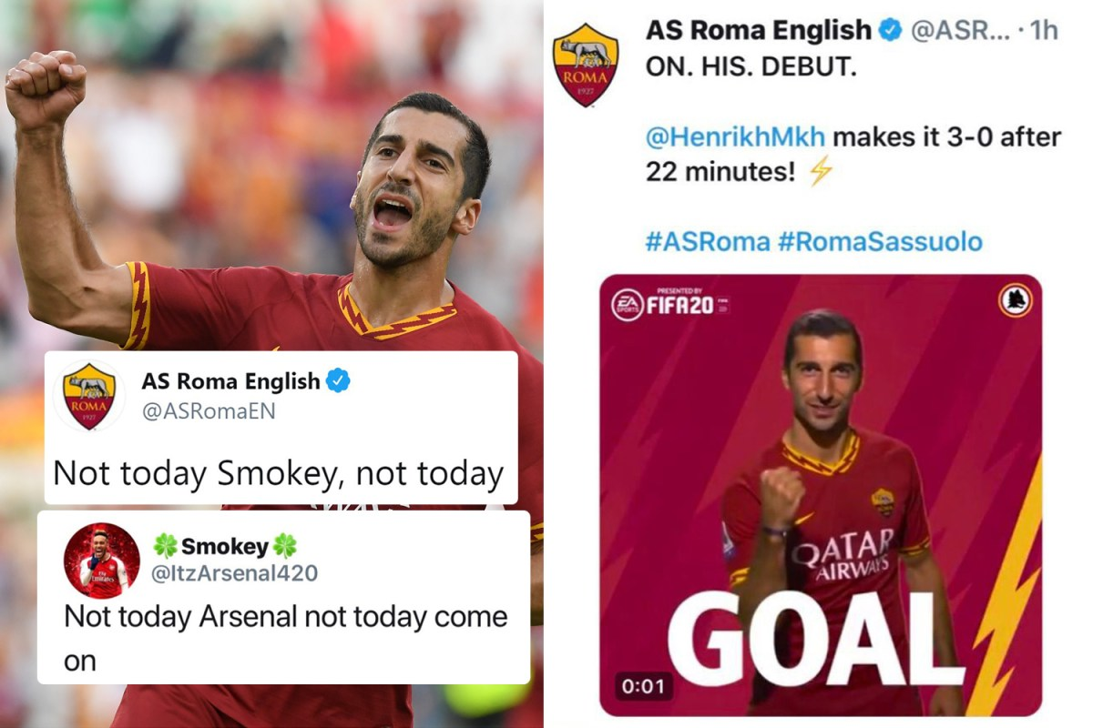 arsenal fan brilliantly trolled by roma