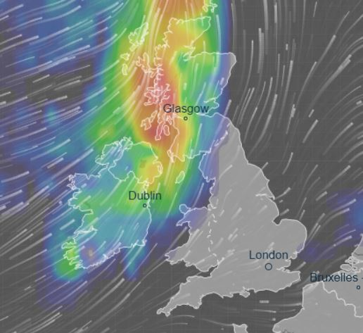 The tail end of Hurricane Dorian will whip the UK later today