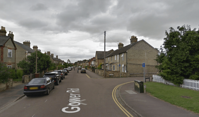 The little girl was at the intersection of Gower Lane and Leete Place in Royston, Cambs, when she was hit by the car