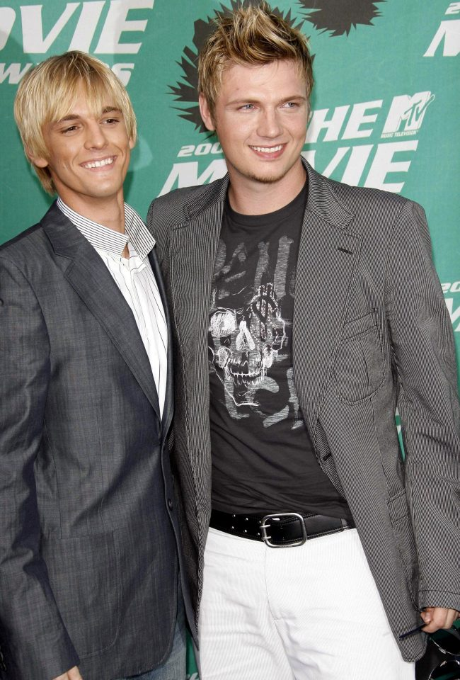 Brothers Aaron and Nick Carter, pictured together in 2006