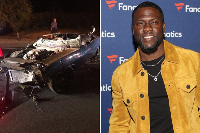 Image result for Kevin Hart May Need Back Surgery Following Crash of His Vintage Muscle Car