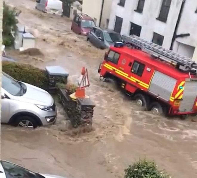 People have been left trapped in their homes on the Isle of Man this morning