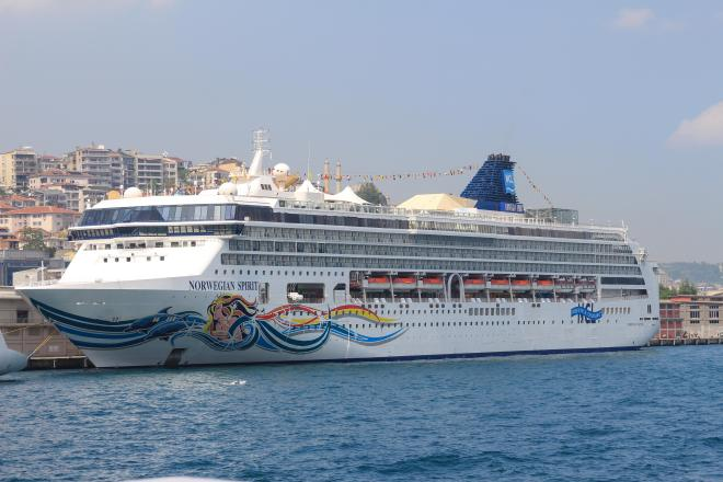 Customers are furious they are stuck on the Norwegian Spirit cruise liner (stock image)