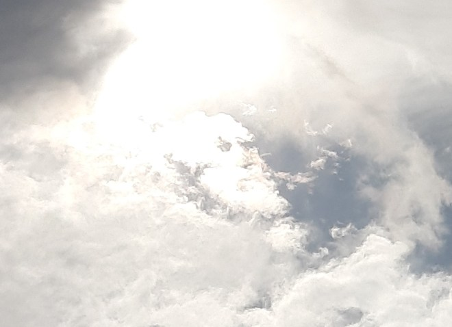 God continues to move in mysterious ways by revealing His face in a cloud above Kennington South London