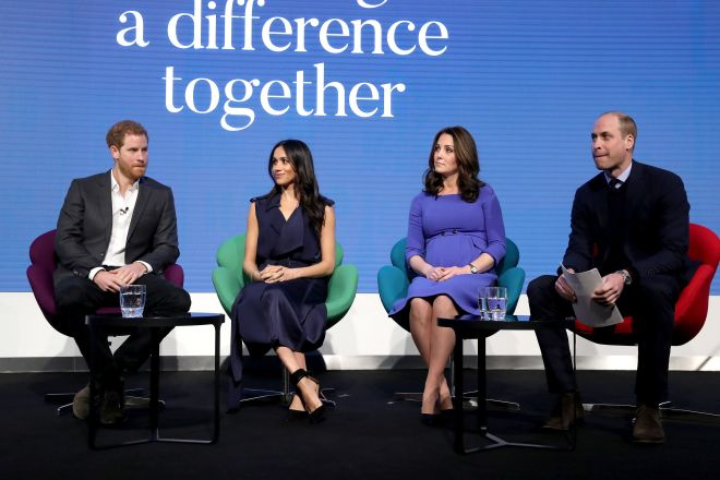 The Duke of Sussex, the Duchess of Sussex, the Duchess of Cambridge and the Duke of Cambridge who will voice a new mental health campaign