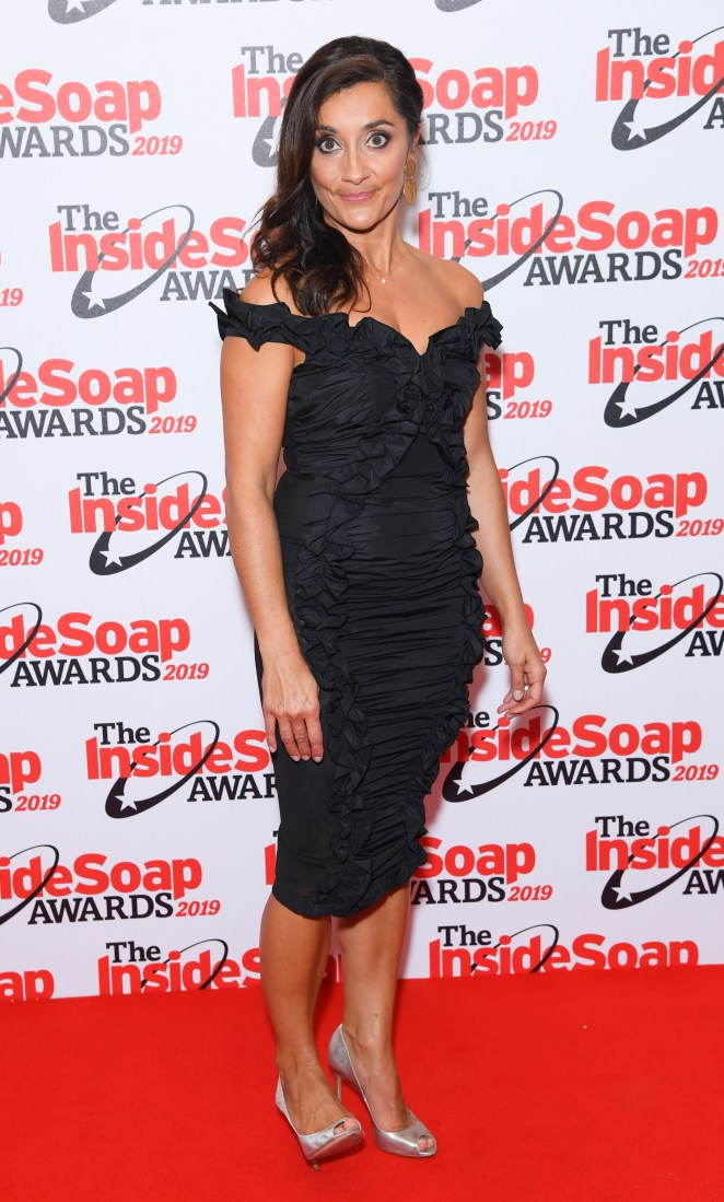 Rebecca Sarker also pulled out all the stops with her chic get-up