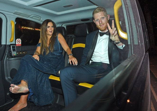 The couple appeared happy in a taxi at the end of the night