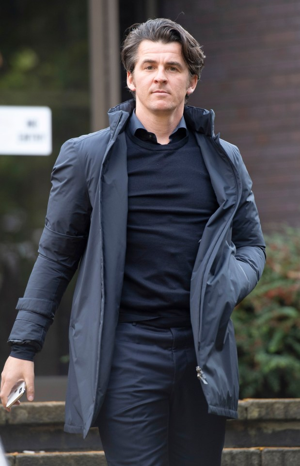 Joey Barton leaves court after pleading not guilty