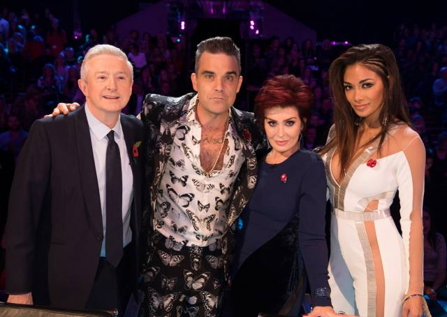 The judge was full of praise for Robbie - but wanted Ayda replaced with Sharon or Nicole