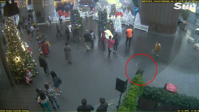 Grace was captured on CCTV hugging the man accused of killing her