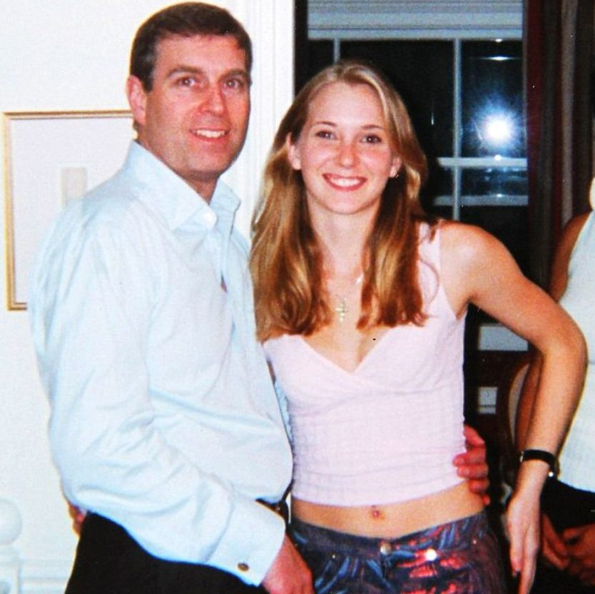 The royal was infamously pictured with his arm around Virginia when she was 17 at a party thrown by Epstein