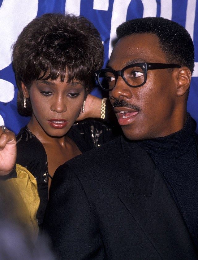 Whitney began dating rapper Bobby Brown in 1989, although Robyn claims her ex-lover was more interested in actor Eddie Murphy, above