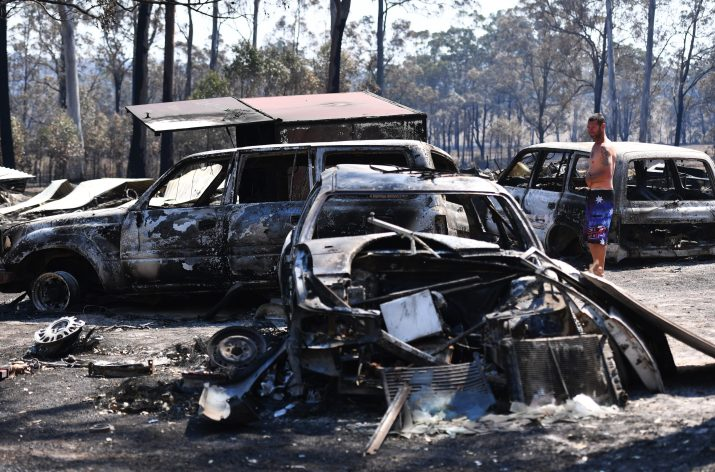 The fires have destroyed dozens of vehicles in and around Sydney with burned shells dotted across the city