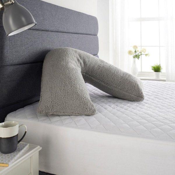 V Shaped Pillows, White, Cream