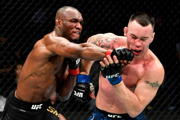 Kamaru Usman broke Covington's jaw before finishing his rival in the last round of their title fight