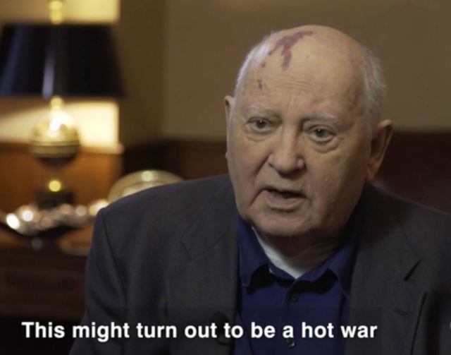 Mikhail Gorbachev has warned the end might be nigh because of the threat of nuclear war