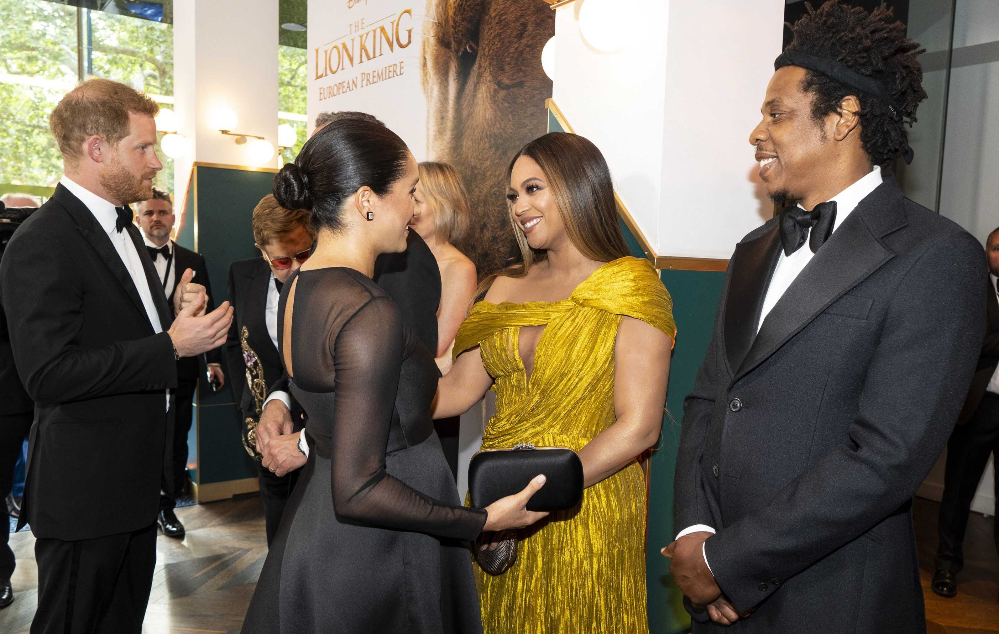 Meghan Markle smiles as Prince Harry awkwardly embarrasses her for ANOTHER voice over Disney work at the premiere of Lion King – The Sun