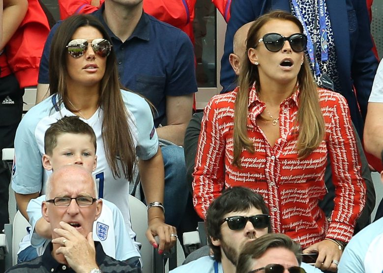 The two women, pictured watching their husbands play for England, were once friends