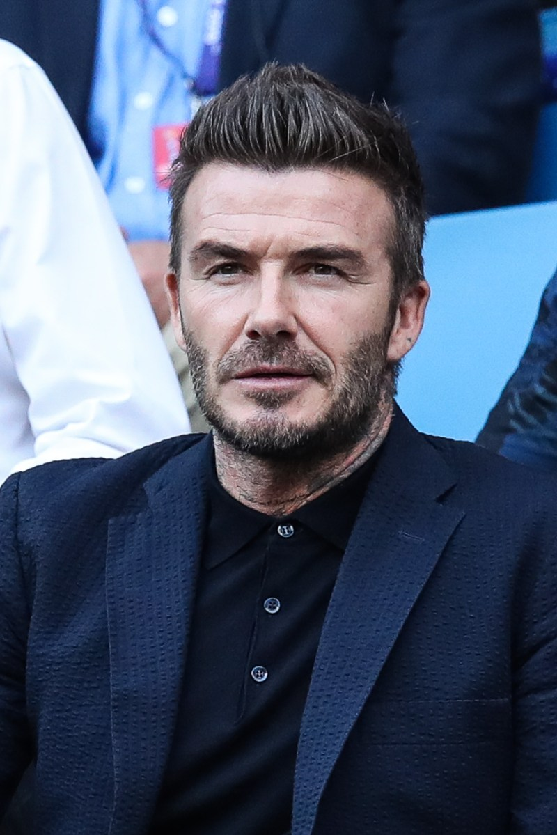 Becks was one of three Brits to make the top ten