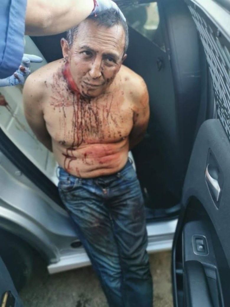 Escamilla's husband Erik Francesco Robledo, 46, stabbed her and skinned her alive in their apartment in Mexico City