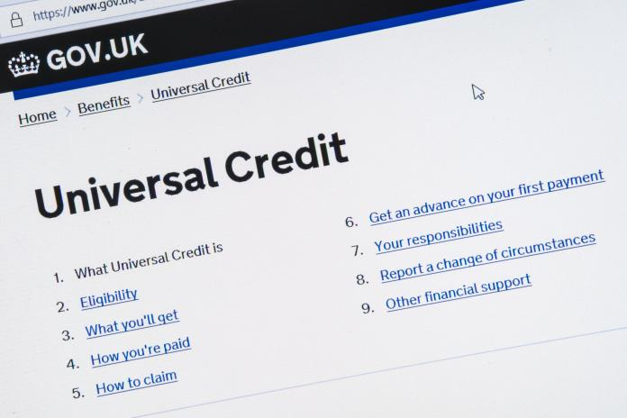The standard universal credit allocation has been reinforced by the government