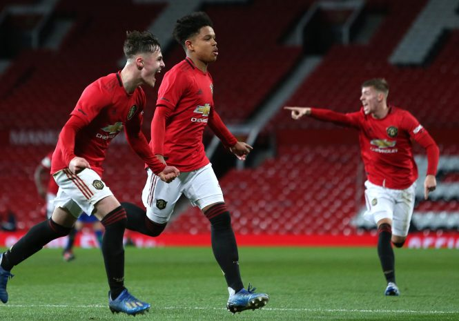 Last week Shoretire scored his first goal at Old Trafford in the FA Youth Cup against Wigan