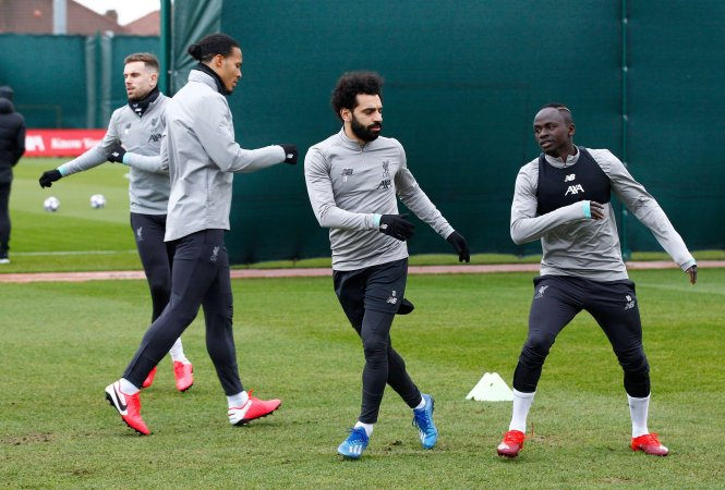 Liverpool stars Mo Salah, Sadio Mane and Virgil van Dijk stepup preparations at Melwood for facing Spanish giants Atletico