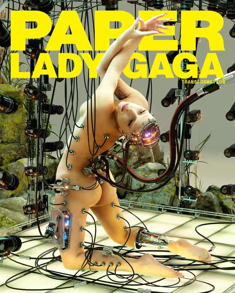 Image result for Lady Gaga poses nude for Paper magazine cover