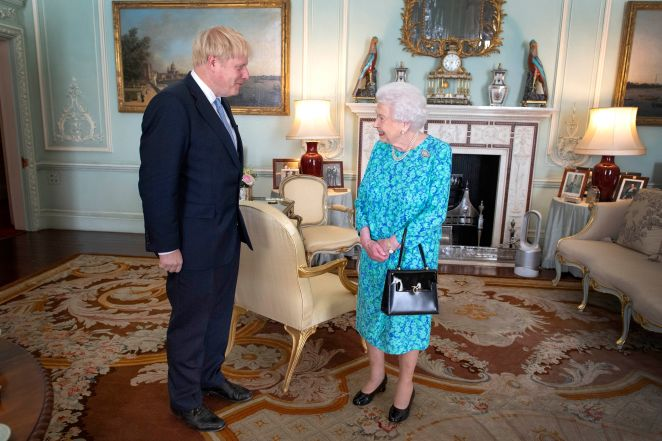 Boris Johnson and the Queen have not seen each other for more than two weeks, instead holding their weekly audiences on the phone