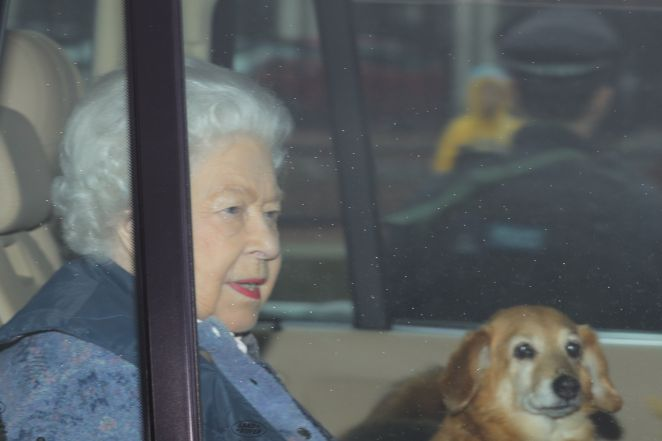 The Queen is seen here leaving London for Windsor