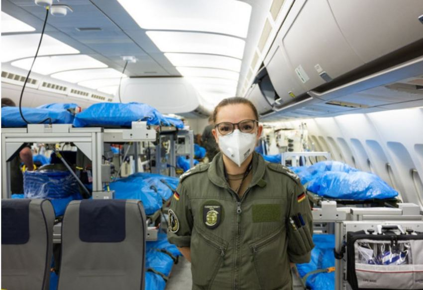 The plane has already been used to rescue six coronavirus-infected patients
