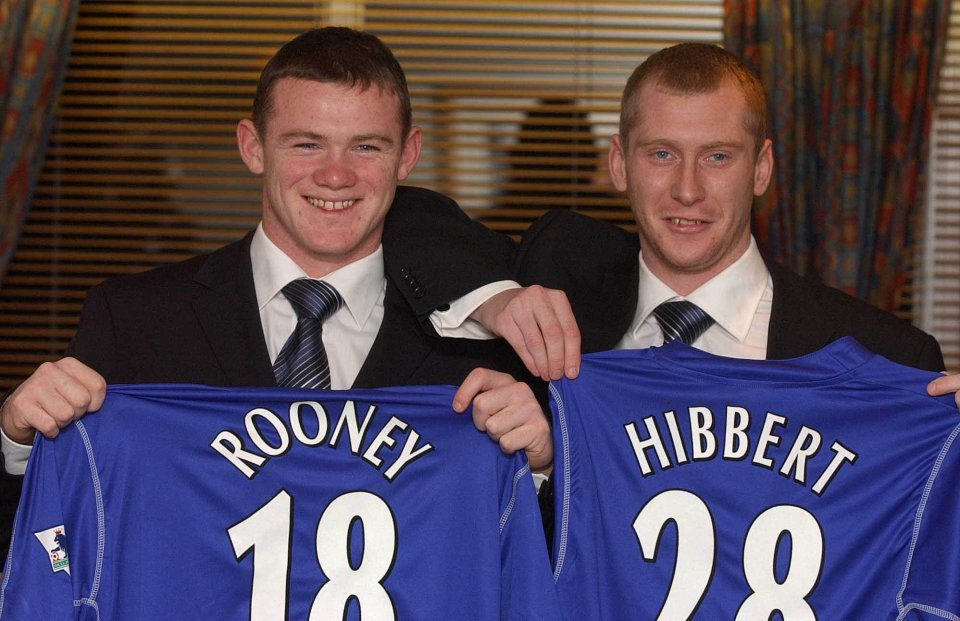 One-club man Tony Hibbert started on Rooney's debut