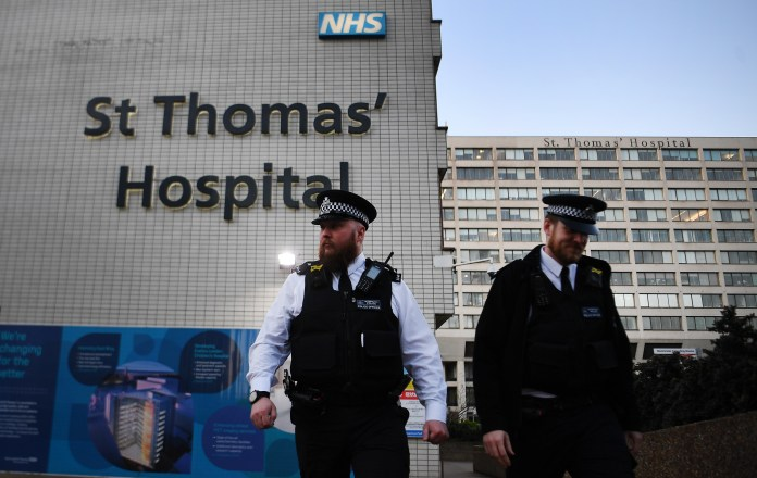 PM admitted to St Thomas Hospital, closest to Parliament and Downing Street, Sunday evening