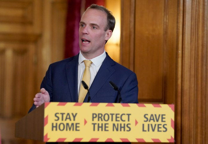 Dominic Raab said this morning that PM was fine