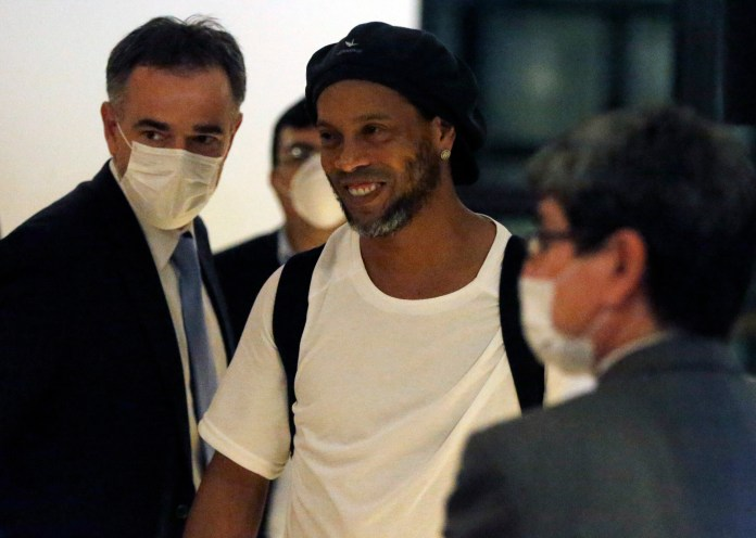 Ronaldinho and his brother paid a security deposit of 1.3 million pounds
