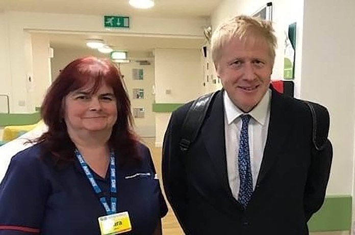 Mum-of-four Sara Trollope, 51, took a picture with Boris Johnson, months from retirement when she tragically died