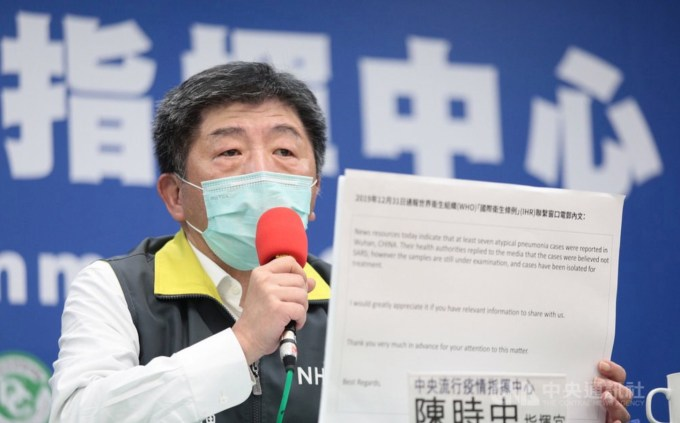 Taiwan's coronavirus December warning to WHO about person-to ...